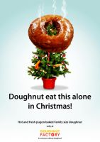 Doughnut Factory Xmas tree by darthkix