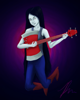Marceline and Her Bass Guitar by MidoriFlygon