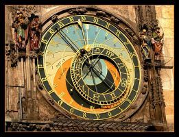 Clock In Praha - Upper Part by skarzynscy