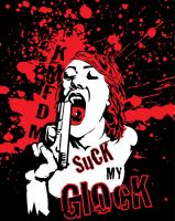 KMFDM shirt- Suck my Glock by DrewtheUnquestioned