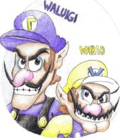 Wario and Waluigi by DairyKing