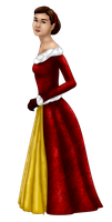 Belle Christmas Gown by FalseDisposition