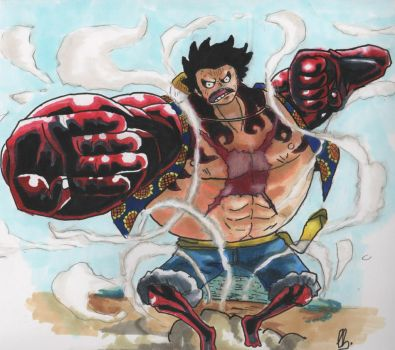 Luffy Gear fourth by LKCOMIC