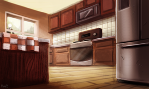DAY 213. Kitchen (35 Minutes) by Cryptid-Creations