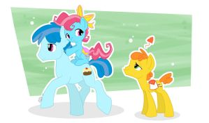 Young Love - Carrot Cake and Cupcake by EllisArts