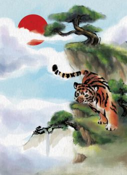Tiger in Search of Sky by tunnelinu