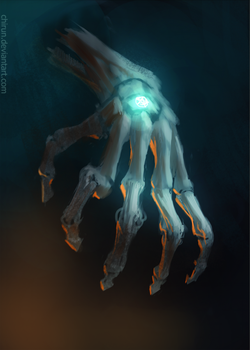 Skeletal hand by chirun