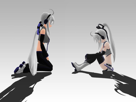 _MMD_ Looking to younger self by xXHIMRXx