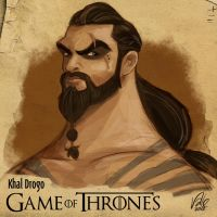 Khal Drogo - Game of Thrones by Fabvalle
