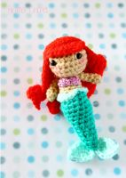 Little Mermaid - Kawaii Amigurumi plush by BramaCrochet