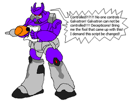 Galvatron is upset by cretaceousisle