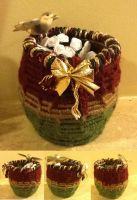 Handmade woven basket by CrypticGrin