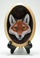 Red Fox Plaque by TumblingTortoises