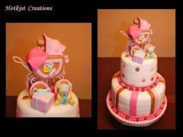 Baby Shower Cake by hotkist