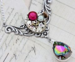 Steampunk Necklace Jewelry Vintage Jewel by inspiredbyelizabeth