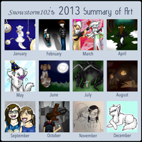 2013 Art Summary by Snowstorm102