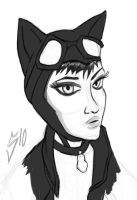 Catwoman Sketch by SINGLETON930