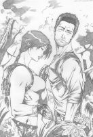 Lara Croft and Nathan Drake by Dannith