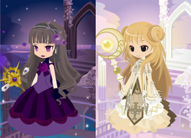 Dream Selfy Free Adopts: Dark and Light Sorceress by SeitoAnna
