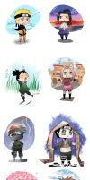 Naruto Chibi Collection by CherryInABottle