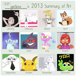 2013 Art Summary by YellowHellion
