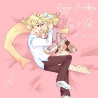 Happy birthday to Kagamine~ by BLEEDFan95