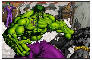 Hulk vs Batman by statman71