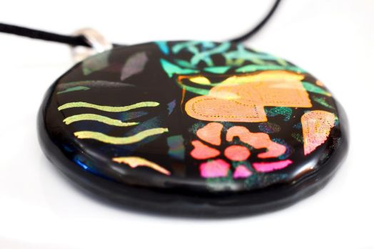 Shadow effect Dichroic Pendant (big) by Dimolicious