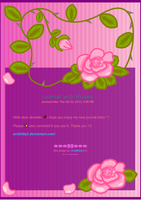 Roses Journal Skin by CitricLily
