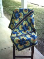 Peacock Mod Baby Blanket by ivoryleopard