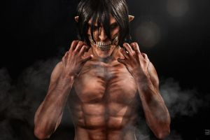 Eren titan by TheIdeaFix