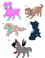 Adoptables ^-^ (OPEN) Name your price~ by Rainbow-Splash-Cloud