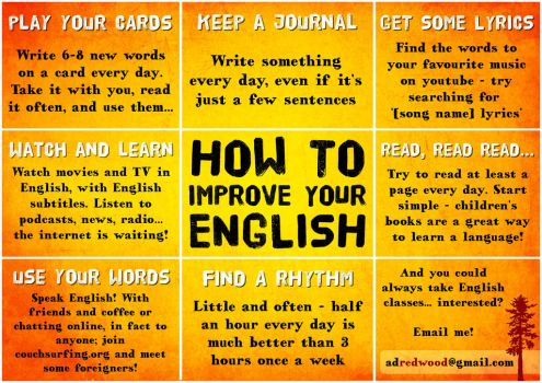 How To Improve Your English by adredwood