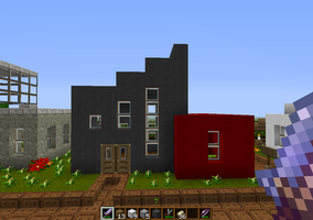 Red and black house by PlasmaGelCookie