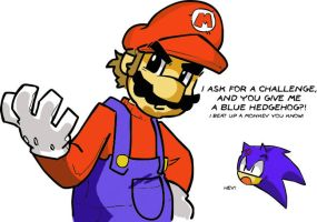 Mario And Sonic at the Colors by PrickthePorcupine