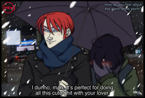 Snowstorm couple meme by Nieidanine