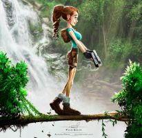 Tomb Raider crossed with Disney by pardoart