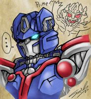 Cybertron Optimus by sazienas