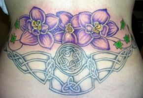 Dawn's celtic and flowers by Ta2Lady