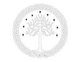 Yggdrisil-Tree of Gondor Lines by TheDarknessWithinMe9