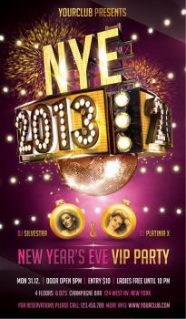 New Year Party Flyer by cleanstroke