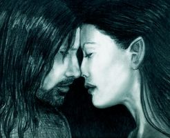 Aragorn and Arwen by djaax
