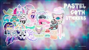 Pastel Goth Stickers - Waatt by Waatt
