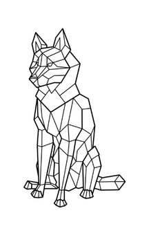 Geometric Wolf Design by Rixxes