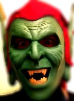 Spider-man Green Goblin costume mask close up! by shadowcast89