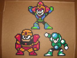 Megaman bead bosses 2 by zaghrenaut