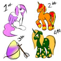 Adoptables Batch #5 [CLOSED] by BusyBeingClever