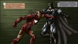 Iron Man vs. Batman by iamherecozidraw