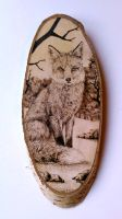 Fox (Vulpes vulpes) pyrography by FizikArt