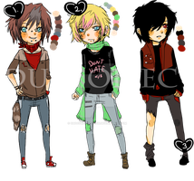 Adoptables Bunch 4 (Closed) by ChocoRevolution